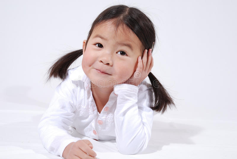 trochę azjatykcia dziewczyna obrazy royalty free