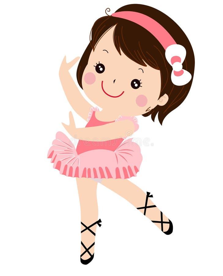 trochę baletnicza dziewczyna royalty ilustracja