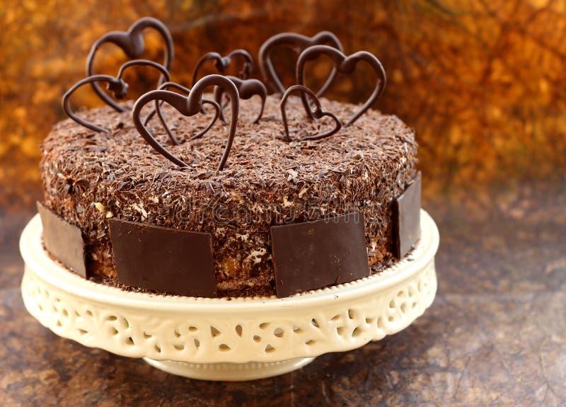 trochę czekoladowi serca zdjęcie stock
