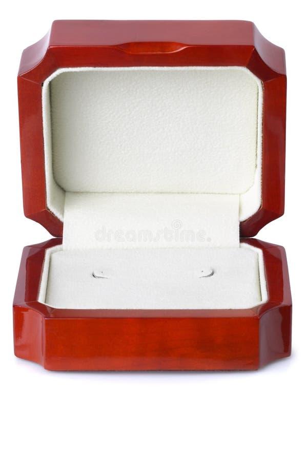 trochę drewniana pudełkowata biżuteria zdjęcie royalty free