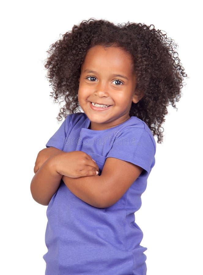 trochę dziewczyny uroczy afrykański piękny hairst obrazy stock