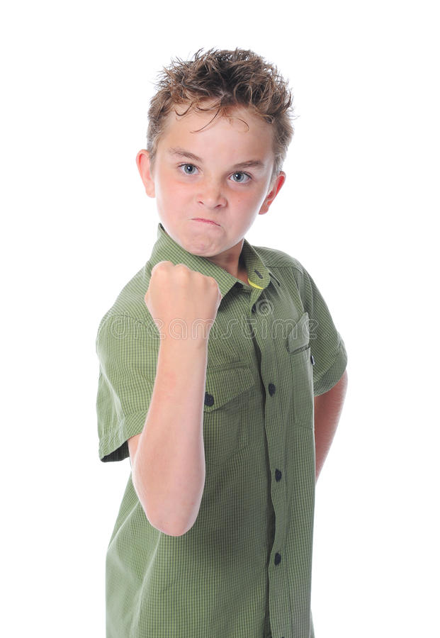 trochę gniewna chłopiec fotografia royalty free