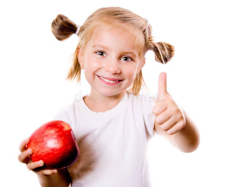trochę jabłczana śliczna dziewczyna zdjęcie stock