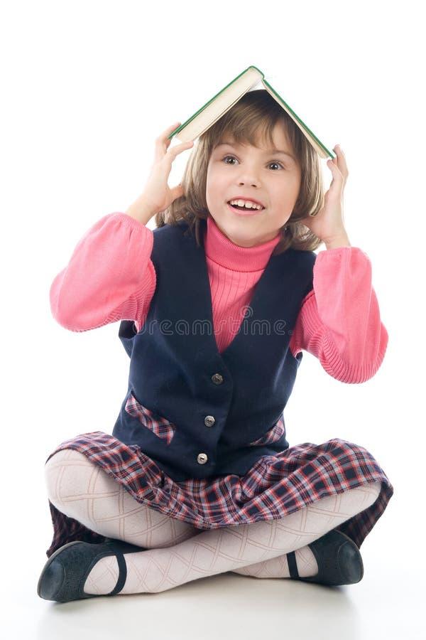 trochę książkowa śmieszna dziewczyna zdjęcia stock