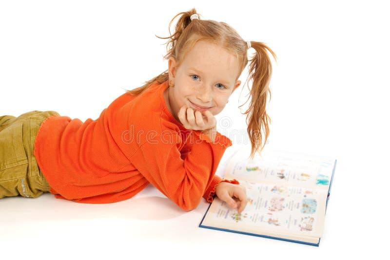 trochę książkowa dziewczyna fotografia stock