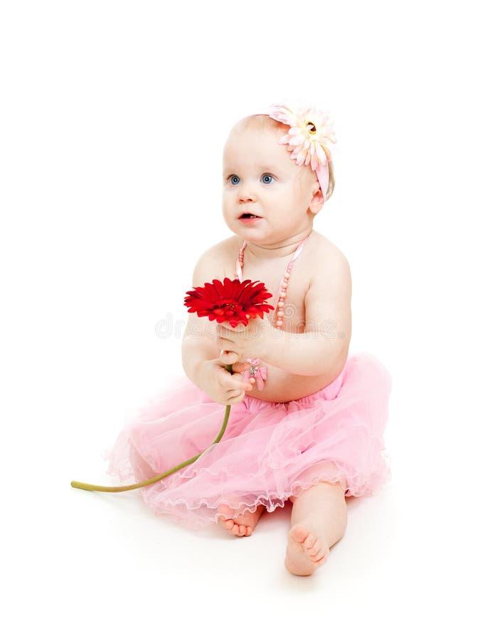 trochę kwiat śliczna dziewczyna obrazy royalty free