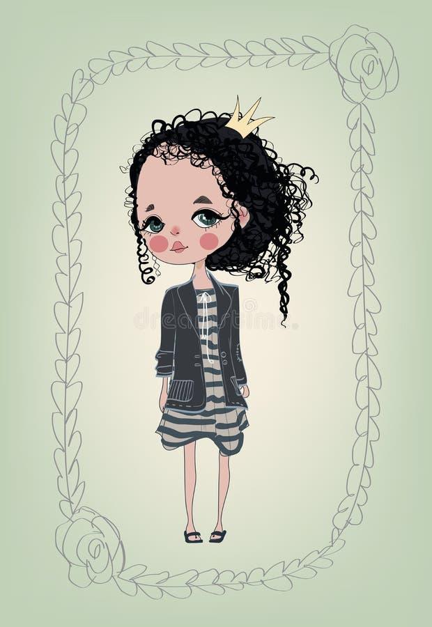 trochę słodka dziewczyna royalty ilustracja