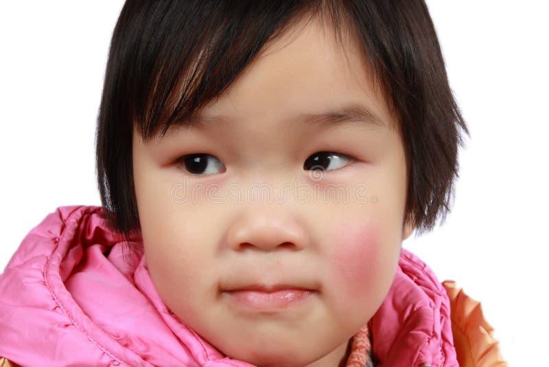 trochę urocza twarzy chińska dziewczyna zdjęcie royalty free