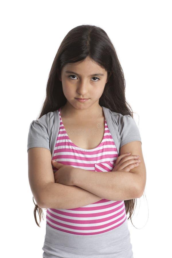 trochę zażarta gniewna dziewczyna zdjęcia stock
