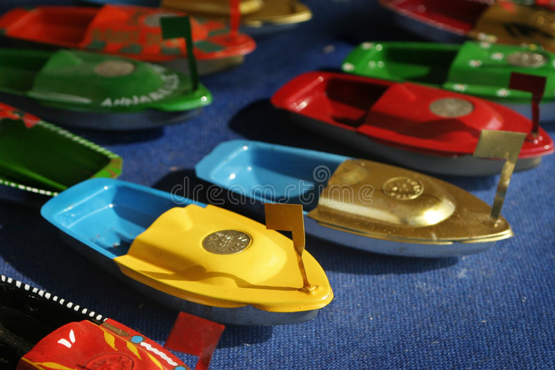 trochę zabawki łodzi zdjęcie stock