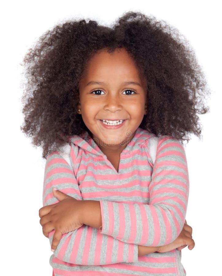 trochę zadumana afrykańska dziewczyna zdjęcie royalty free