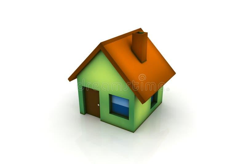 trochę zielony dom ilustracji