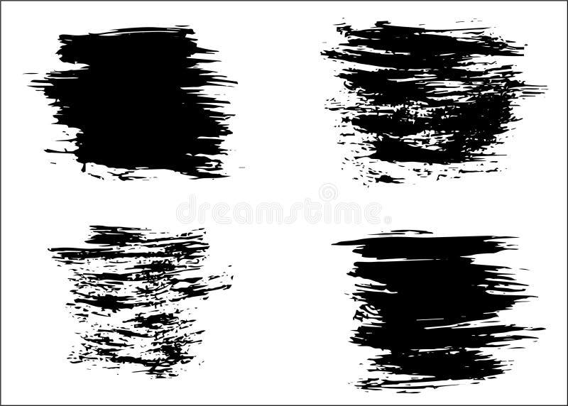Trockene B?rstenhintergr?nde des Schmutzvektors Getrennt Hand gezeichneter Satz lizenzfreies stockbild