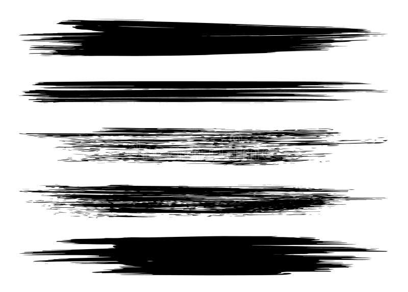 Trockene B?rstenhintergr?nde des Schmutzvektors Getrennt Hand gezeichneter Satz stockbilder