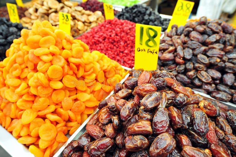 Trockene Früchte auf Bildschirmanzeige stockbild
