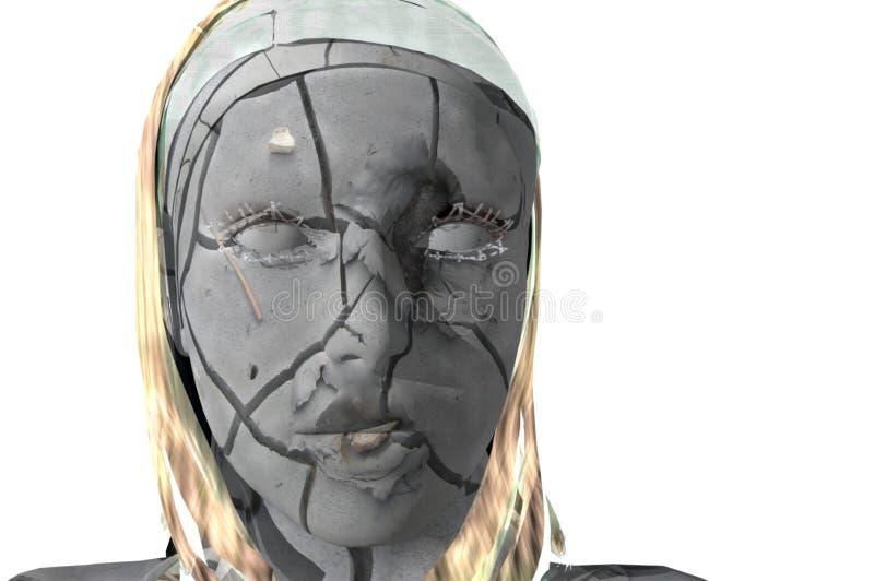 Trockene Haut vektor abbildung