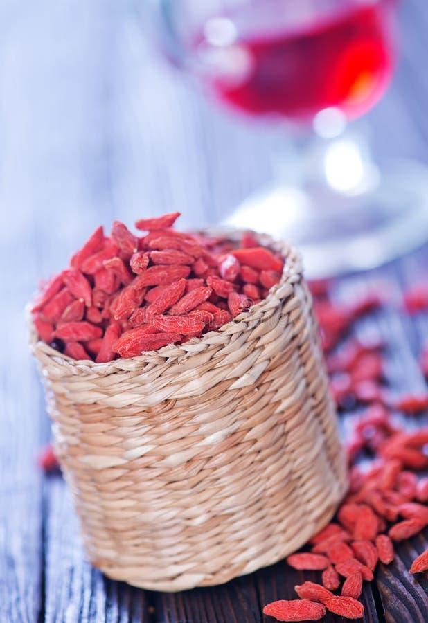 Trockene rote Beeren stockbild