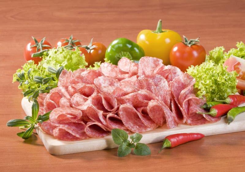 Trockene Salami lizenzfreies stockbild