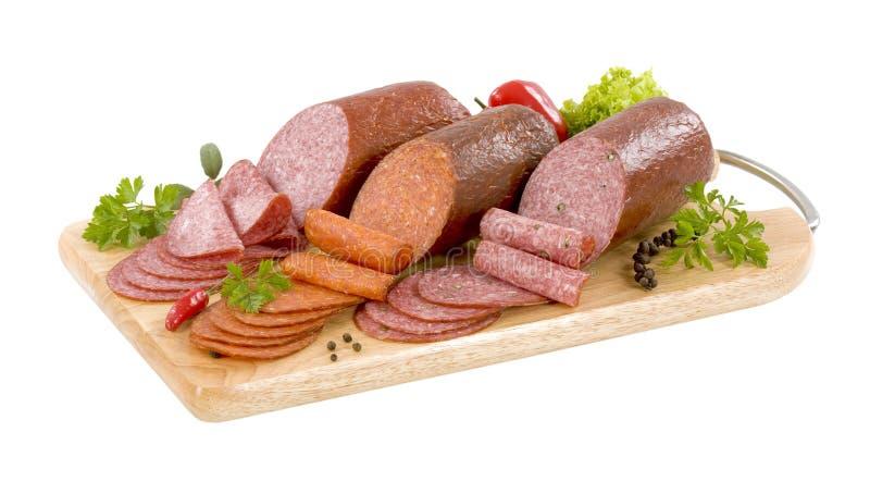 Trockene Salami stockbilder