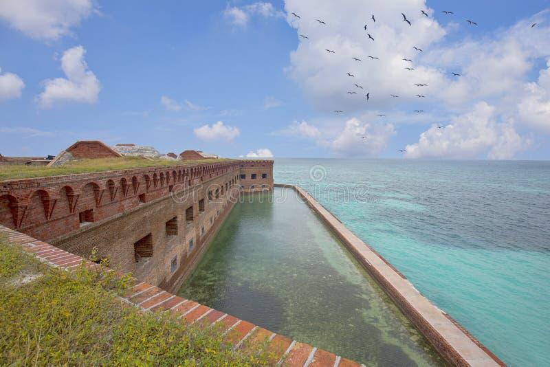 Trockene Tortugas-Dachspitzen-Ansicht lizenzfreie stockfotografie