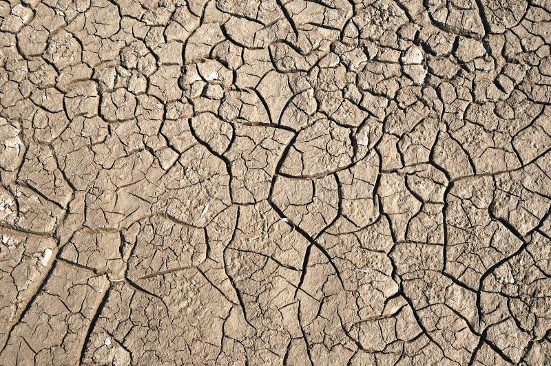 Trockener Boden mit Sprung lizenzfreie stockbilder