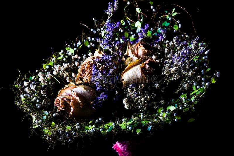Trockener Hochzeitsblumenstrau? lizenzfreie stockfotos