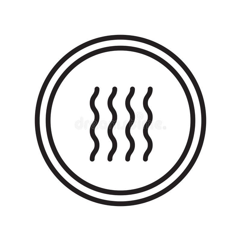 Trockener Ikonenvektor lokalisiert auf weißem Hintergrund, trockenes Zeichen stock abbildung