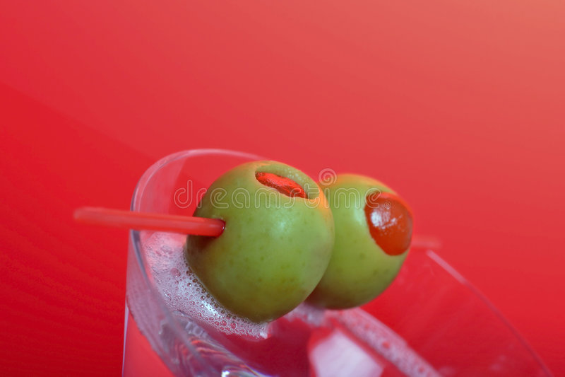 Trockener Martini und Limonade lizenzfreies stockfoto
