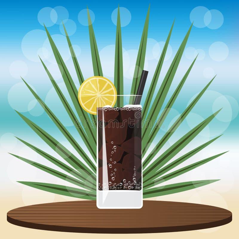 Trockenes Martini-Cocktail auf hölzernem klassischem Behälter stock abbildung
