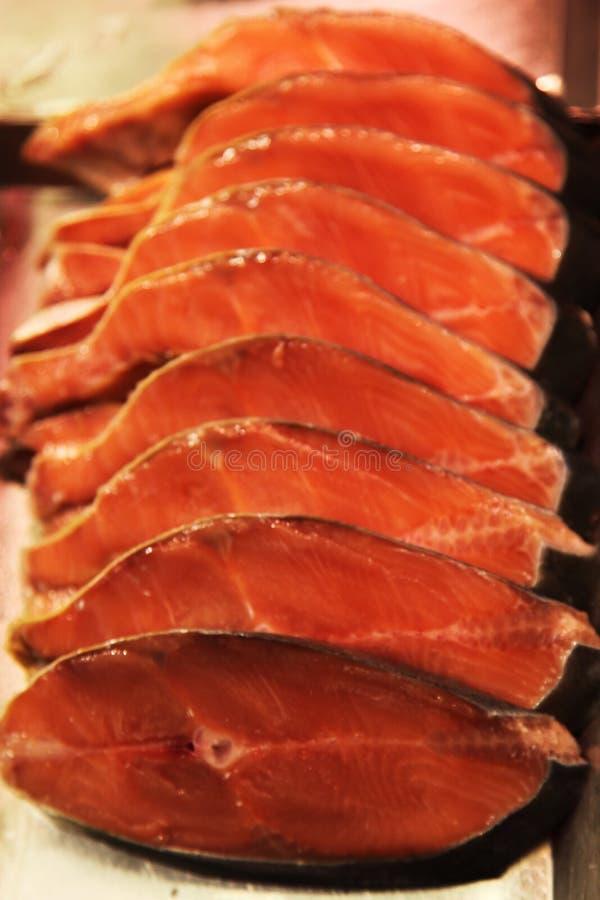 Trockenfisch geschnitten in Scheiben stockfoto