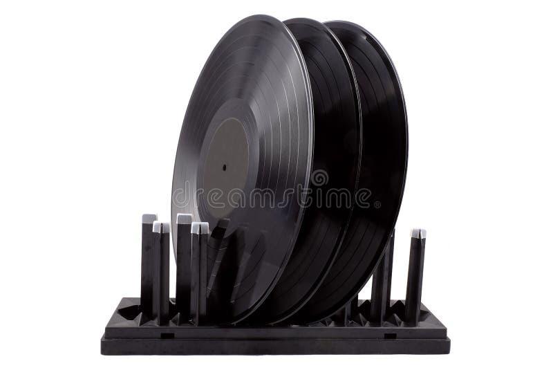Trocknen für Vinylaufzeichnungen lizenzfreies stockfoto