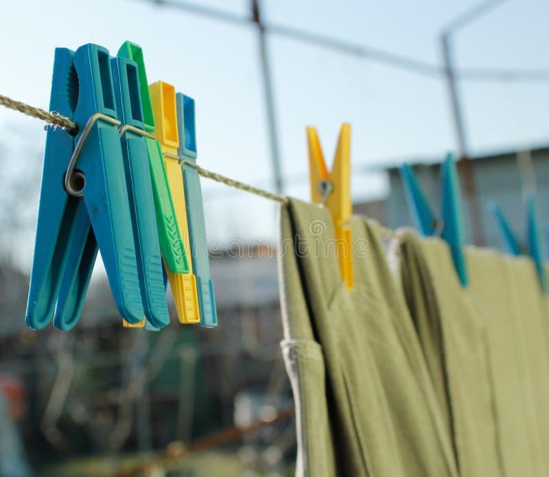 Trocknende Kleidung lizenzfreies stockbild