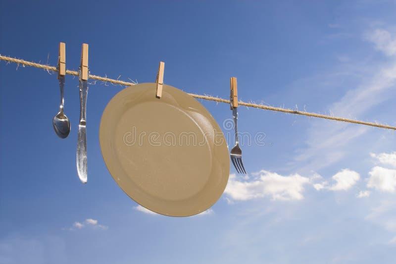 Trocknende Teller lizenzfreies stockbild