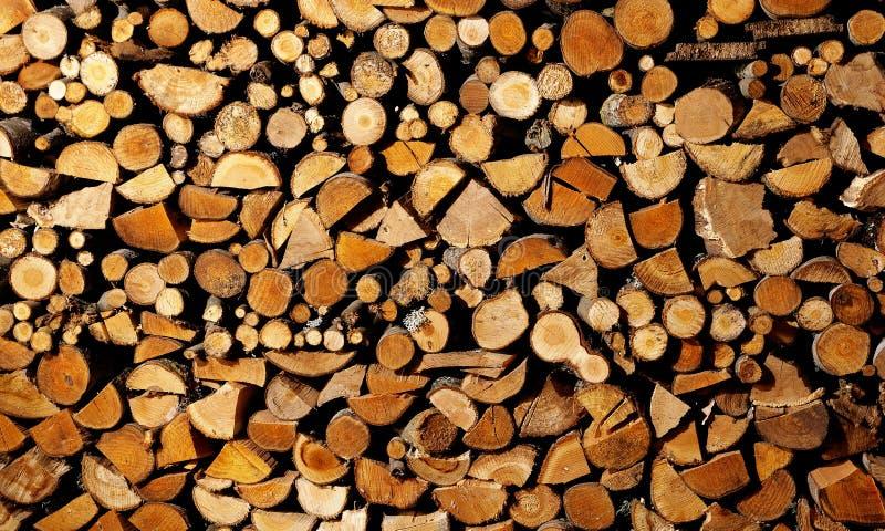 trocknendes Brennholz stockfoto