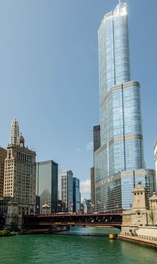 Troef Internationale Hotel & Toren, Chicago stock afbeeldingen
