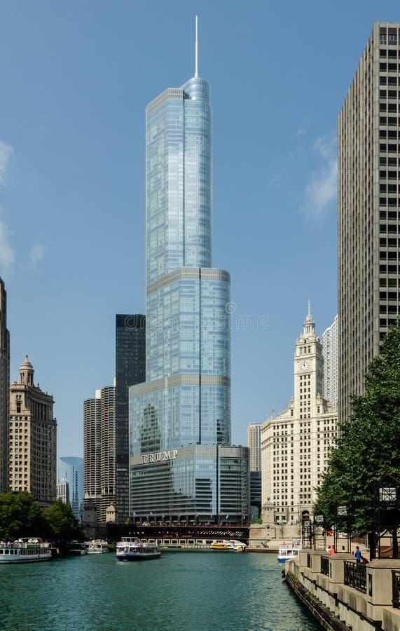 Troef Internationale Hotel & Toren, Chicago royalty-vrije stock afbeelding