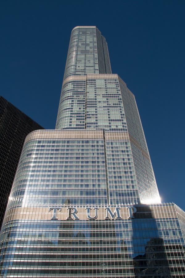 Troeftoren in lijn de van de binnenstad van Chicago royalty-vrije stock afbeelding