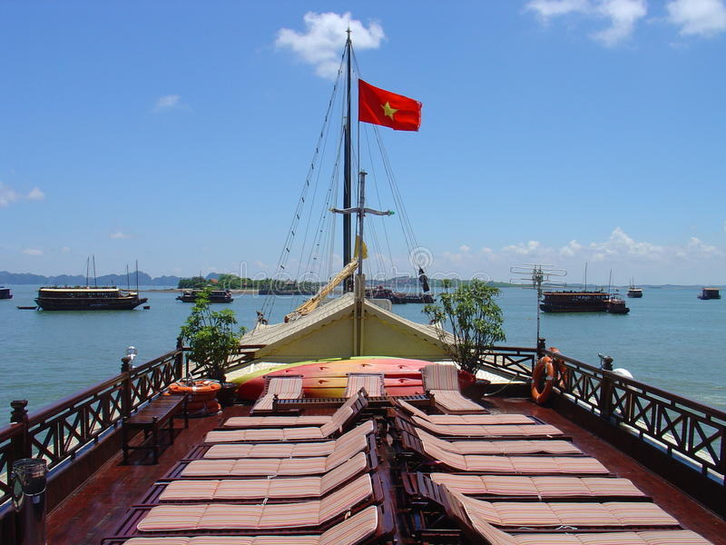 Troep langs Baai royalty-vrije stock foto's