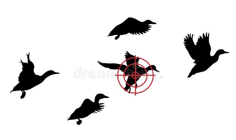 Troep van eenden royalty-vrije illustratie