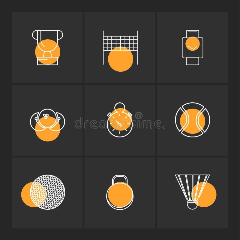 trofé boll, stoppur, sportar, lekar, kondition, friidrott royaltyfri illustrationer
