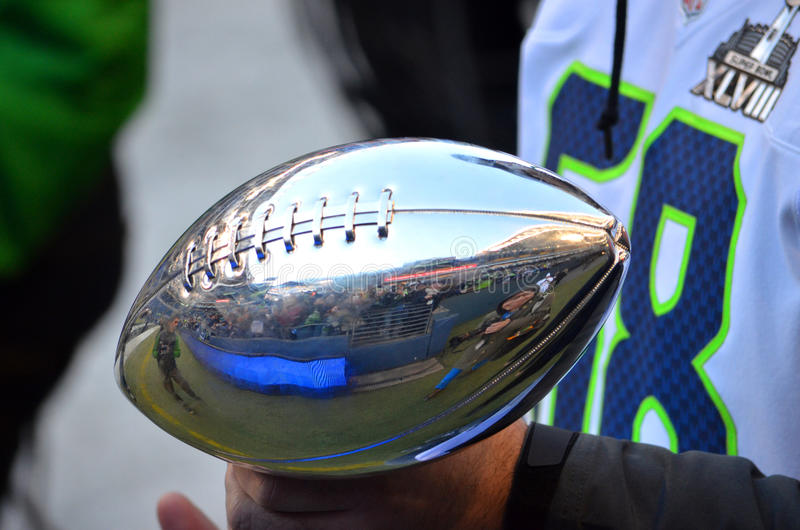Trofé för Super Bowl XLVIII Lombardi royaltyfri foto