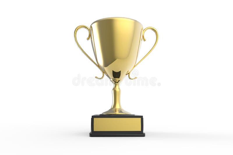 Trofé för vinnarearna royaltyfri illustrationer