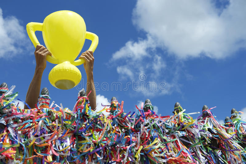 Troféu da boa sorte de Brasil do campeonato do mundo foto de stock royalty free