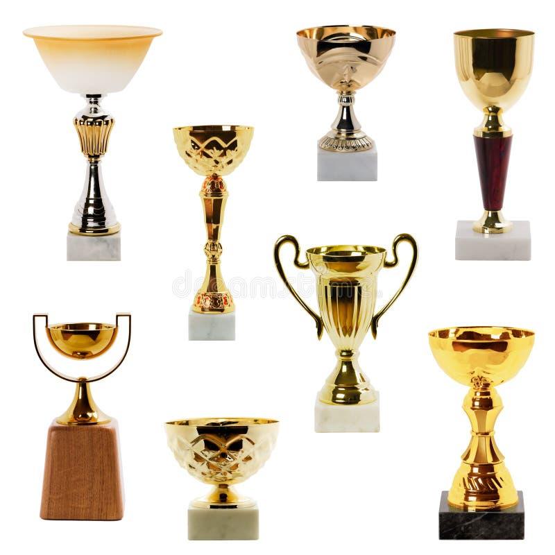 Troféu da coleção foto de stock