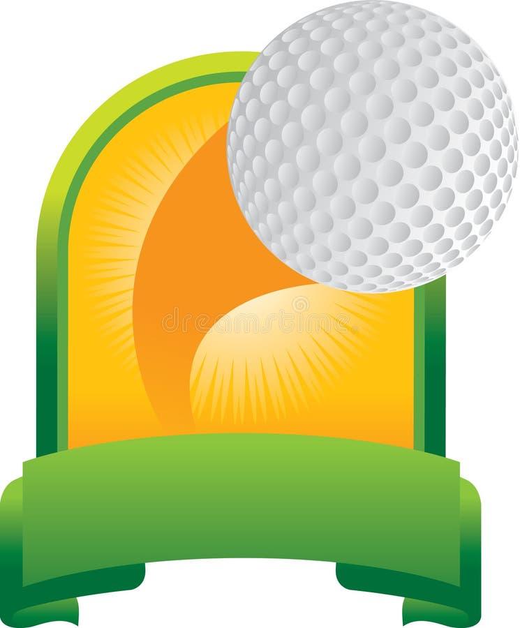 Troféu da esfera de golfe ilustração royalty free