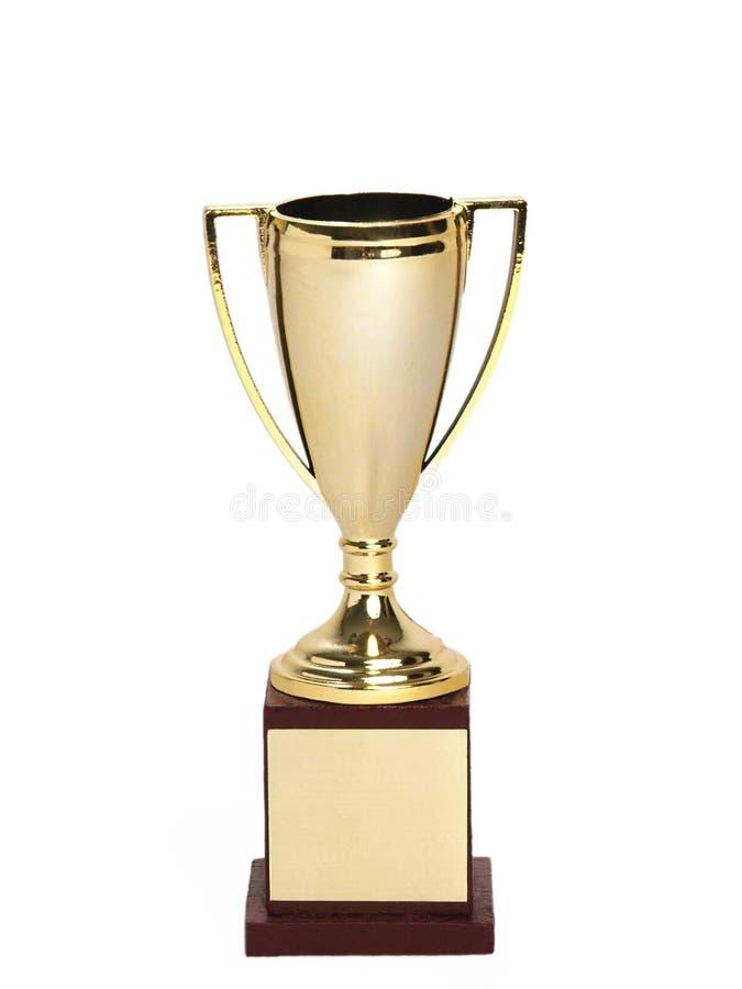 Troféu diminuto (espaço em branco) foto de stock