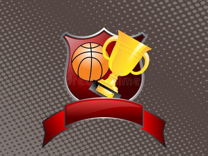 Troféu do basquetebol ilustração royalty free