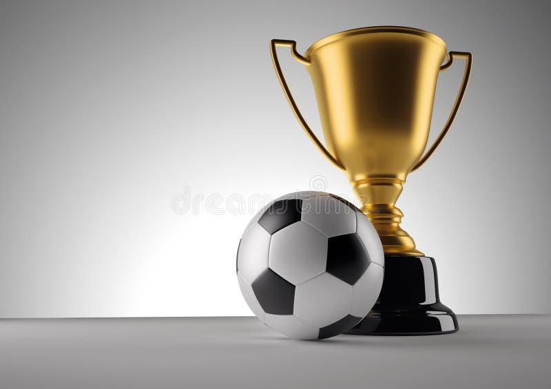 Troféu do campeão de Fotball ilustração royalty free