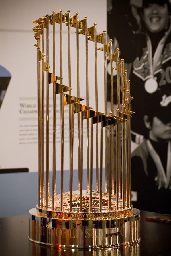 Troféu do campeonato da série de mundo de MLB fotografia de stock royalty free
