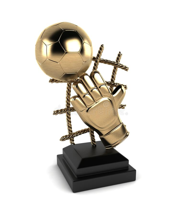 Troféu do futebol imagens de stock